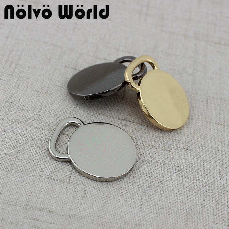 10-50pcs Customize 3 Colors Leather Bag Round Tags /Leather Luggage Tags / Personalized Baggage Tag / Customized