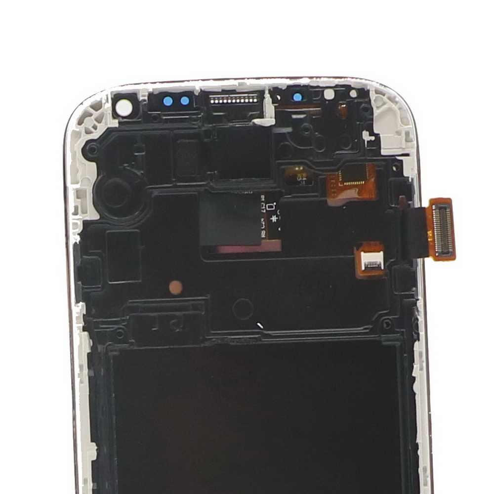"""100% اختبار 5.0 """"شاشات lcd لسامسونج غالاكسي S4 شاشة الكريستال السائل مع الإطار i9500 i9505 i9506 مجموعة المحولات الرقمية لشاشة تعمل بلمس استبدال"""