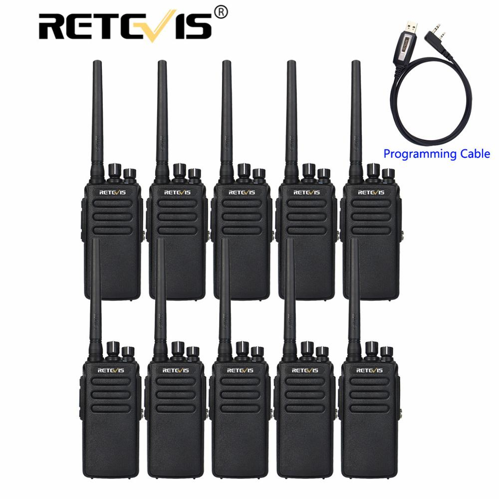 10pcs Walkie Talkie DMR Digital Radio Retevis RT81 IP67 Waterproof UHF Encryption VOX Digital/Analog Mode Walk Talk+Cable