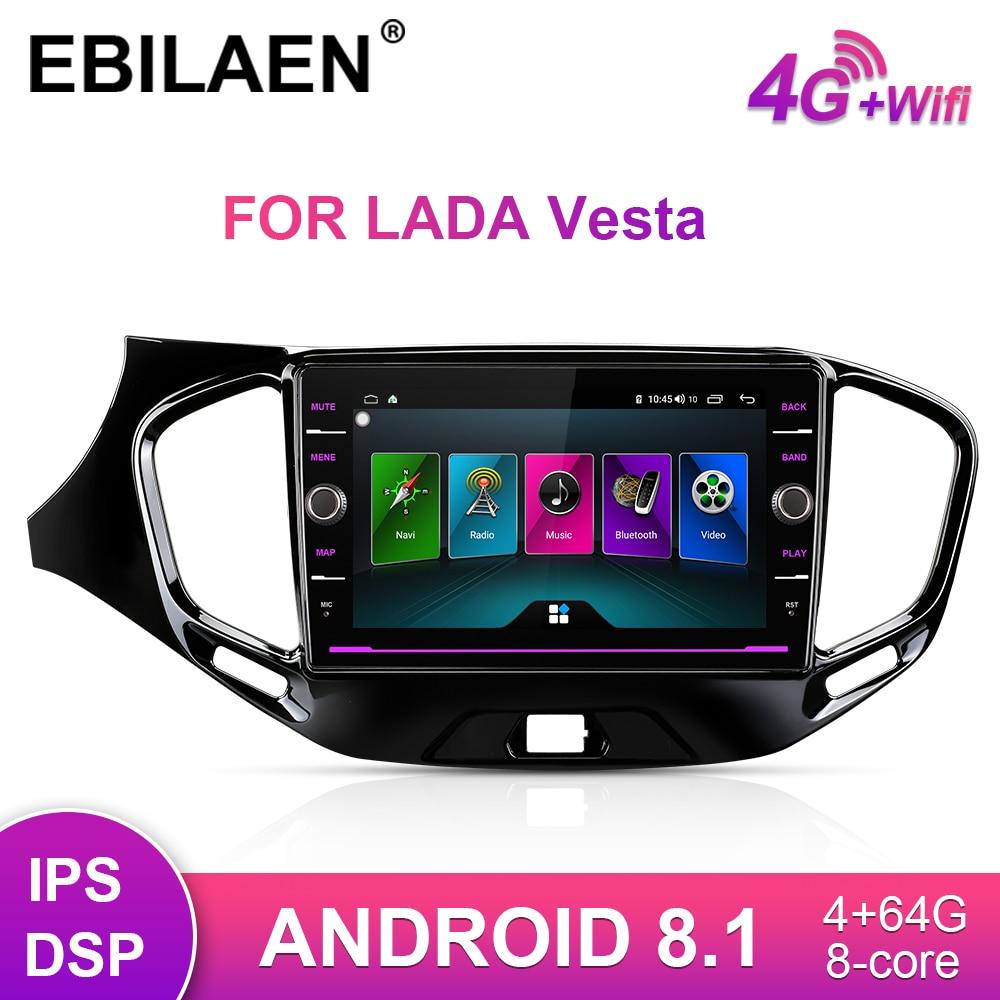 Car Multimedia DVD Player For Lada Vesta Cross Sport 2015-2019 2Din Android 8.1 Auto Radio GPS Navigation Tape Recorder Unit