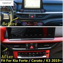 Lapetus Accessories Fit For Kia Forte / Cerato / K3 2019 2020 ABS Front Air Conditioning AC Vent Outlet Strip Molding Cover Kit