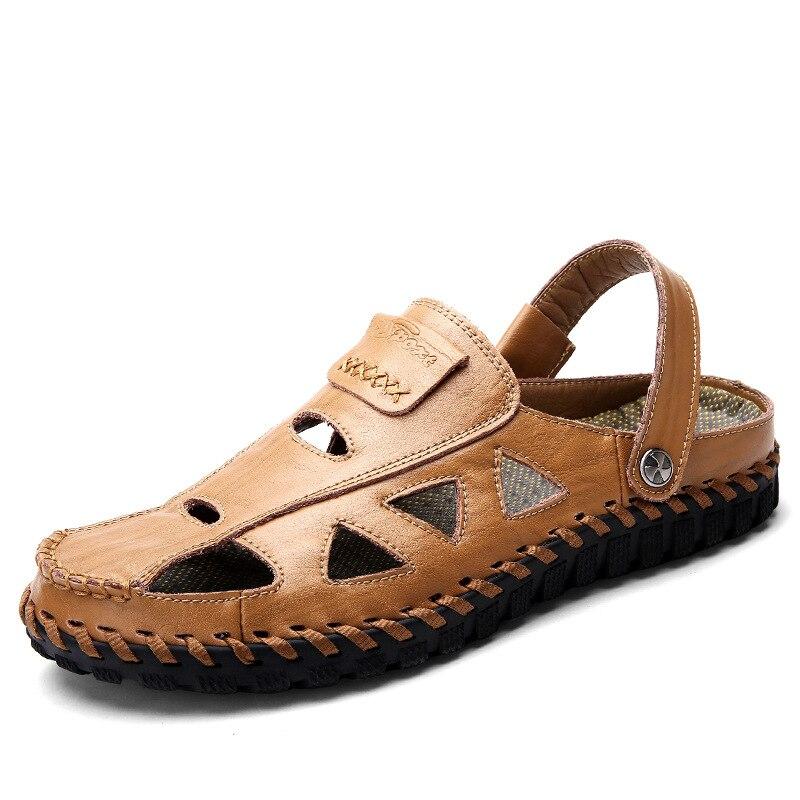 Sandales tissées d'été chaussures de plage grande taille pour hommes sandales de loisirs de plein air