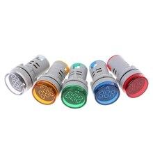 AC 60-500V 22mm Digital Voltmeter Voltage Gauge Monitor Indicator Signal Lights 19QD