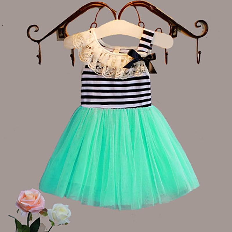 Gilrs Dress Cute Children Kids Baby Girls Dresses Clothes Child Cartoon Summer Dot Sleeveless Kid Garments Clothing 2-7Y