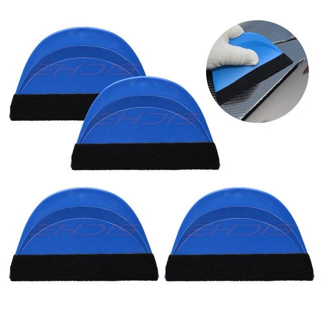 Ehdis 4Pcs Auto Folie Film Wrapping Zuigmond Window Wassen Verven Zachte Schraper Koolstofvezel Decal Sticker Spatel Huis Schoon gereedschap