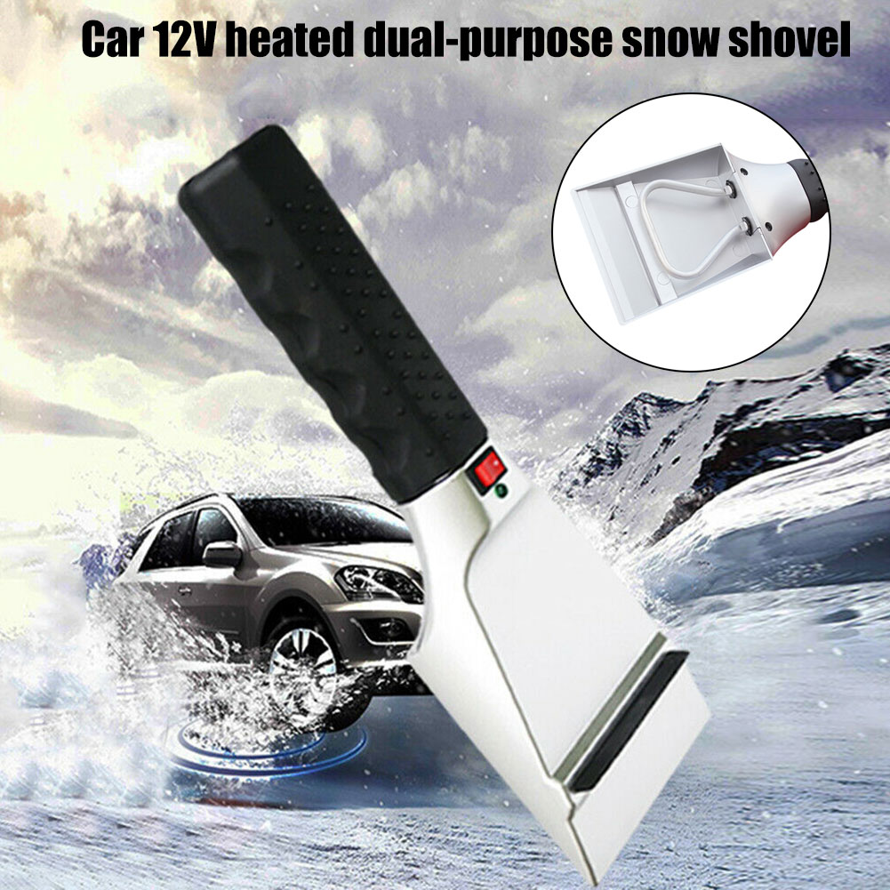 12V Electric Heated Scraper Snow Removal Car Truck Windshield Defrost Tool F-Best