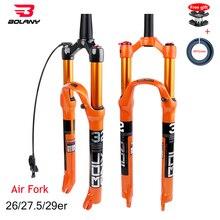 MTB Fahrrad Gabel Magnesium Legierung Luftfederung 26 27,5 29er Zoll 32 HL RL100mm Bike Gabel Lockout Für Fahrrad Zubehör bolany