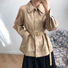 Short windbreaker jacket womens new fashionable loose in early autumn of 2019