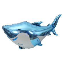 90 x70cm large sharks foil balloons Marine animal party theme decorates the great white shark balloon цена и фото