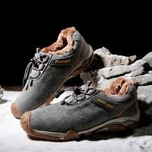Мужская альпинистская обувь; сезон осень-зима; мужские походные кроссовки; теплые зимние мужские туфли; большие хлопковые уличные альпинистские туфли для мужчин