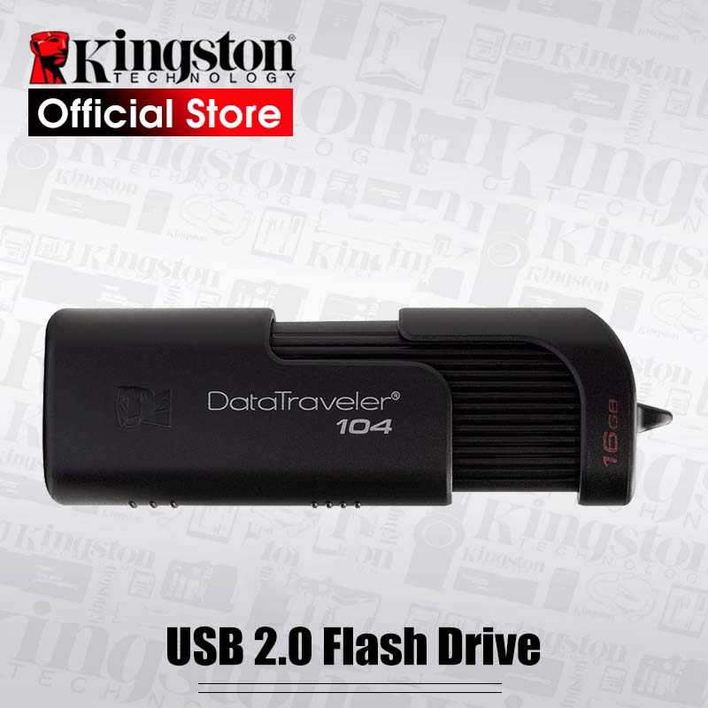 Kingston DT104 USB Flash Drive Mini Key USB Stick 16GB 32GB USB2.0 Storage Stick DTSE9 Metal USB Pendrive Flash Pen Drive Memory