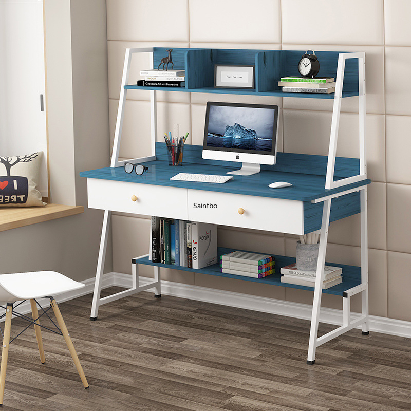 Desk Type Table Simple And Modern Bedroom Household Simple Bookshelf Desk Combined Writing Desk Office Computer Table
