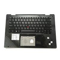 Black Case With RU Russian Backlit Keyboard for Lenovo Thinkpad X1 Yoga 2nd C Cover Palmrest 01HY821 01HY959 01HY879 01HY919