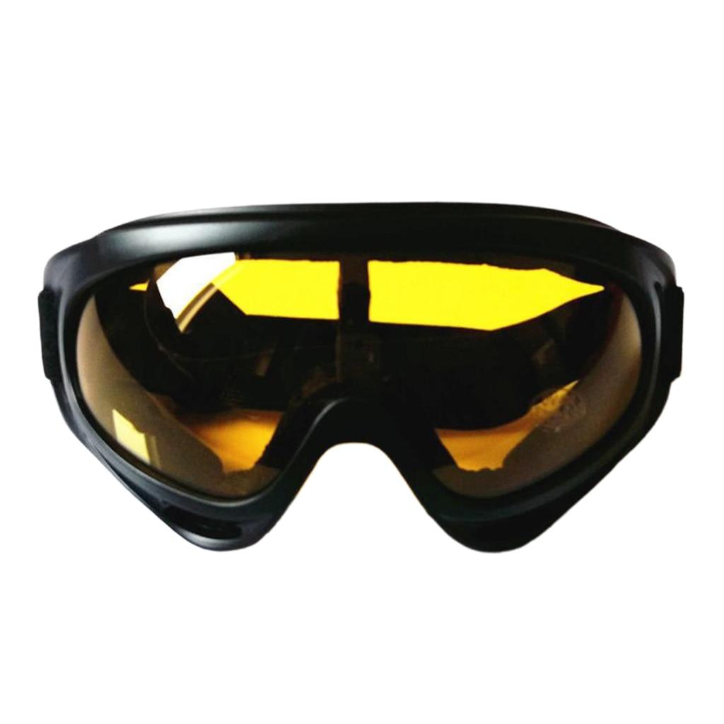 1 çift rüzgar gözlükleri anti-sis kar gözlüğü ayarlanabilir sürme motosiklet