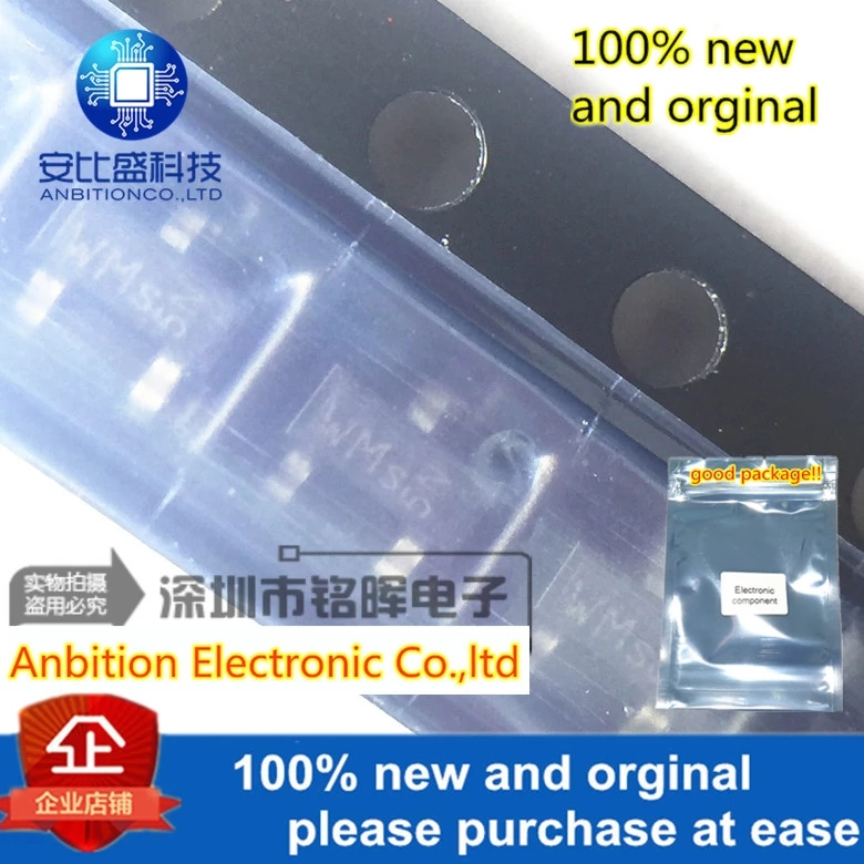 10pcs 100% New And Orginal BCR183 Silk-screen WMs SOT23 In Stock