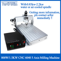 800W /1.5KW/2.2KW CNC 6040 3 Axis CNC router Wood Carving Machine USB Mach 3 Control Woodworking Milling Engraver Machine