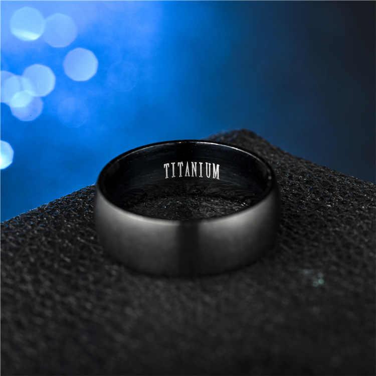 Europeo y americano-estilo caliente de la venta de joyas de titanio de acero negro mate anillo de acero inoxidable de los hombres y las mujeres