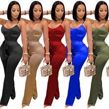 Tute e pagliaccetti a maniche lunghe per donna tute Sexy solide cintura moda cinturino per Spaghetti tute abbigliamento da Club