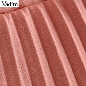 Image 5 - Vadim женское платье с галстуком бабочкой и воротником, змеиный принт, пояс, дизайн, рукав три четверти, элегантные женские повседневные платья, vestidos QD113