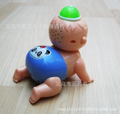 Hot Sales CHILDREN'S Toy Electric Crawling Doll Cry Xiao Wa Will Crawling Of Doll Fun Early Childhood Educational Toy