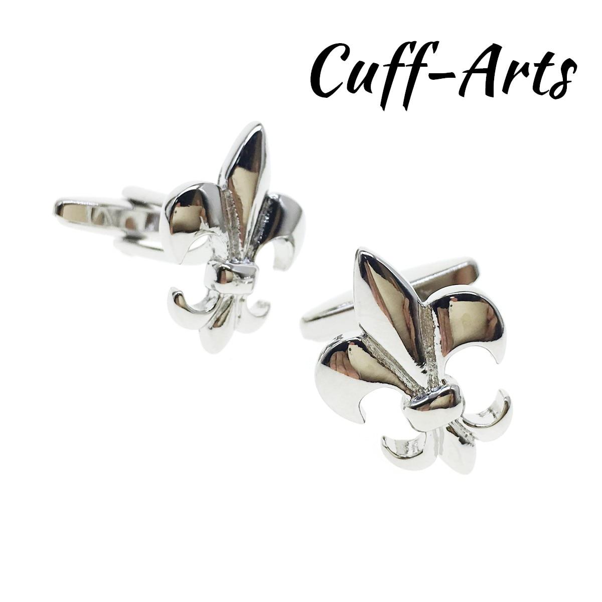 Cufflinks For Men Lilies Cufflinks High Quality Gift Men Jewelry Gemelos Gemelli Spinki By Cuffarts C10476