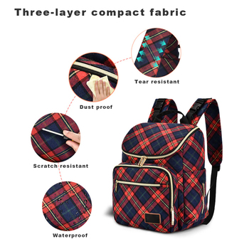 Waterproof Mummy Backpack Maternity Bag for Moms Travel Large Capacity Nappy Diaper Bag Nursing Bottle Insulation Compartment