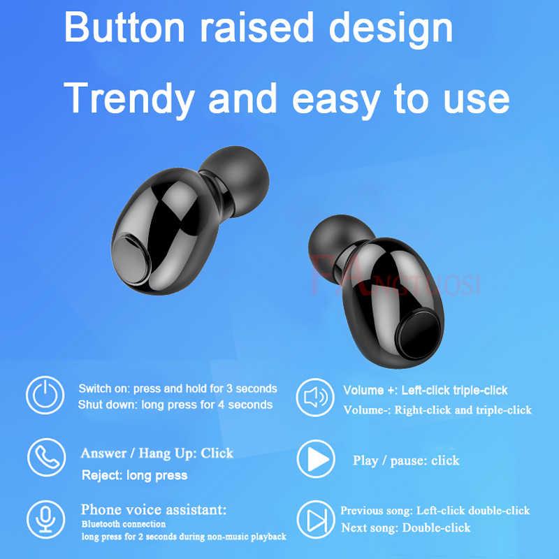 Fangtuosi TWS Bluetooth 5.0 Tai Nghe Âm Thanh Nổi Bluetooth Không Dây Hoạt Động Loại Bỏ Tiếng Ồn Có Mic Tai Nghe Tai Nghe Nhét Tai