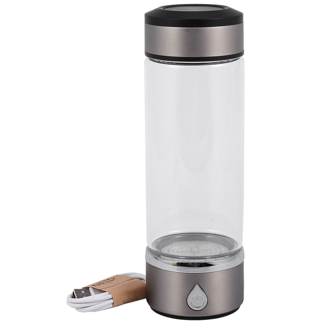 Variation #1 of new-600ml portable hydrogen generator water filter ionizer pure h2 pem rich hydrogen alkaline bottle electrolysis drink hydrogen