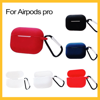 Wireless Bluetooth Case For Airpods Pro Liquid Soft Silicone Case Support Wireless Charging For Air Pod 3 Fundas With Buckle image