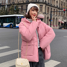 2019 Real New Full Zipper Solid Fashion Cotton Cotton-padded Jacket More Big Yards Hooded Warm Winter Women