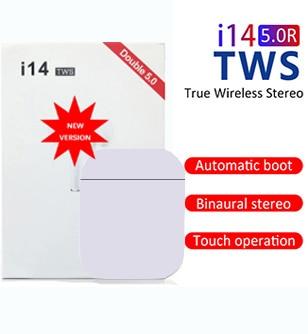 Новинка 2021, оригинальная беспроводная гарнитура I14 TWS, Bluetooth-гарнитура Мобильный телефон, невидимая гарнитура, Bluetooth-гарнитура 5,0