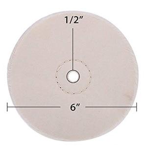 Image 5 - 3 Piece 6 Inch Lucidatura A Specchio Set di Ruote Ruota per Smerigliatrice Da Banco Strumenti di Cotone con 1/2 Pollici Arbor foro