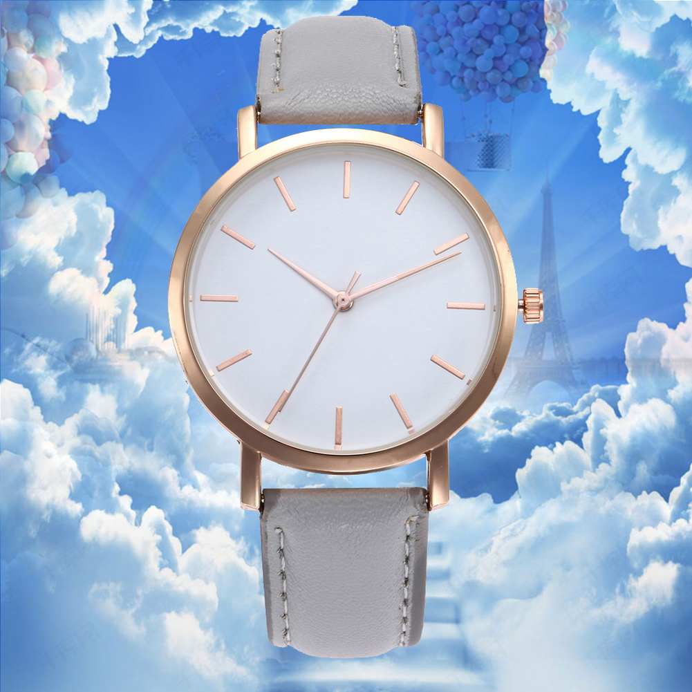 Couple Watches Quartz Watch Fashion Casual Electronic Watch With PU Leather Strap LXH