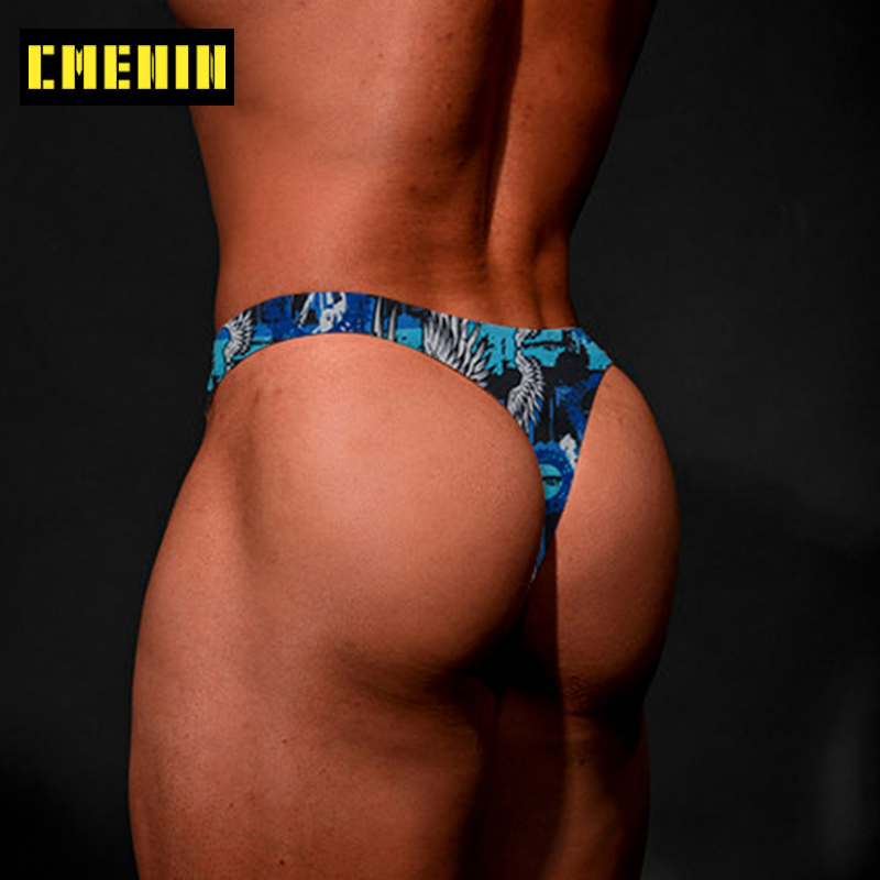 Soft Cotton Gay Men Sexy Underwear Thong Men Jockstrap New Arrival Mens Thongs And G Strings Men's lingerie AD7301