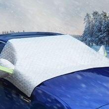 Universal capa de pára-brisa do carro automóvel neve gelo pára-sol escudo inverno windshield viseira capa pára-brisas frente capa 2.4*1.4m