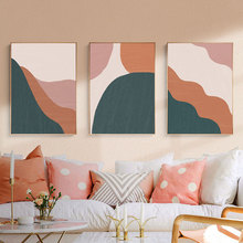Contemporary Abstract Wall Art Boho Canvas Painting Posters and Prints Wall Pictures  for Living Room Home Decor No Frame modern abstract oil painting posters and prints wall art canvas painting colorful rhythm pictures for living room decor no frame