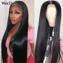13x4 Lace Front Human Hair Wigs Pre-Plucked Brazilian Straight Lace Front Wig 4x4 Lace Wig For Black Women Density 180 Remy Hair