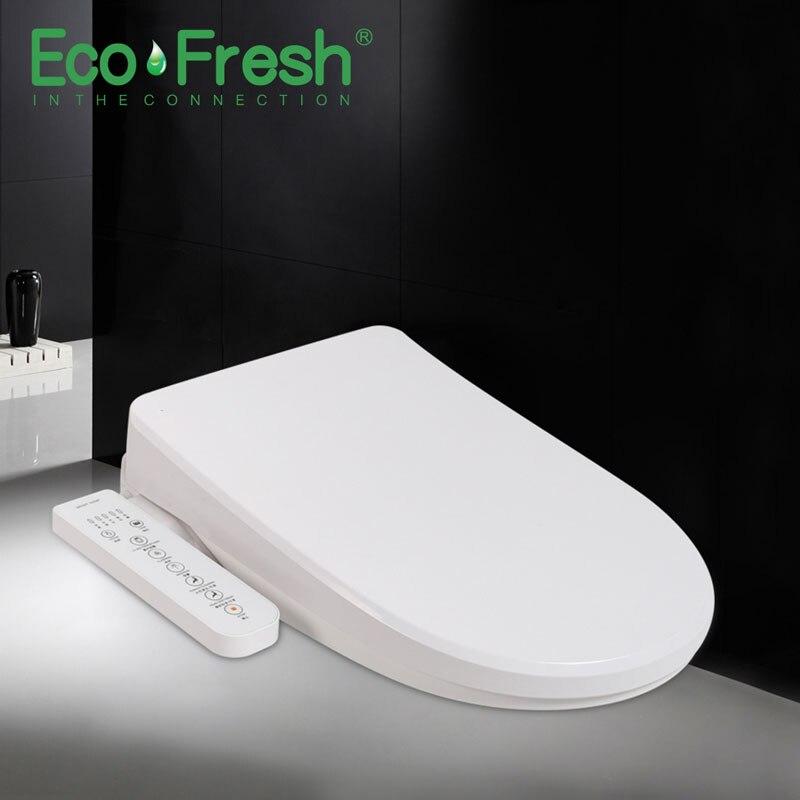 Ecofresh, умное сиденье для унитаза, u образное электрическое биде, сантехника для ванной, УФ антибактериальное автоматическое мытье, подогрев унитаза - 3