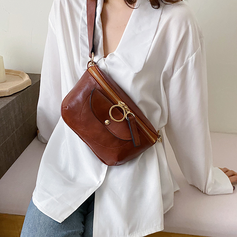Small PU Leather Crossbody Bags For Women 2020 Fashion Chest Bag Shoulder Messenger Bag Female Simple Handbags