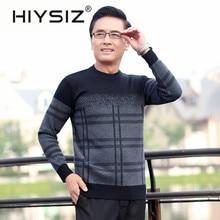 HIYSIZ Brand Cotton 2019 New Streetwear Men's O-neck Collar Streetwear Casual British Style Sweater Men Autumn Winter H3001