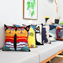 Hot Sale Embroidery Impressionist Pillowcase Cotton Canvas Cushion Cover European Decorative Pillowcase Style Sofa Cushion Cover диванная подушка cushion cover pillowcase 45 45 01 page 4
