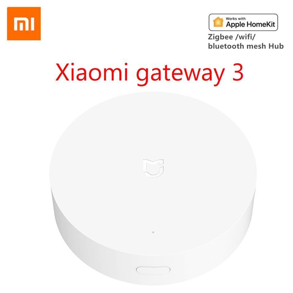 Xiaomi multimodo de casa inteligente, gateway 3 zigbee 3.0 wifi bluetooth, em malha, hub mijia app apple homekit
