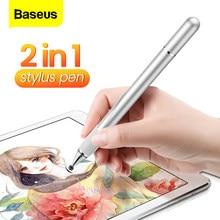 Baseus 2w1 pojemnościowy rysik dla iPad Pro Air Mini uniwersalny Tablet rysunek ekran dotykowy pióro dla iPhone Xiaomi telefon ołówek