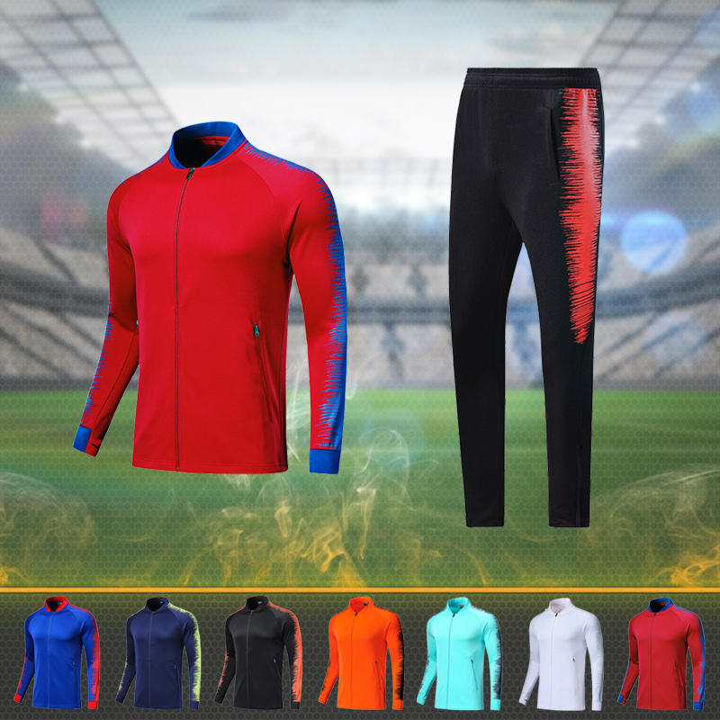 Men's Football Suit Sportswear Customized Adults  Sports Suit Youth Football Training  Long Sleeve Jersey Set Jogging Uniforms
