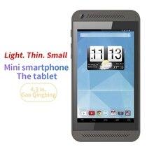 4.3 インチミニタブレット pc マルチタッチ容量性スクリーン、デュアルコア 512 ram + 8 グラム rom andorid 4.4 wifi デュアルカメラ MP3 サポート tf カード
