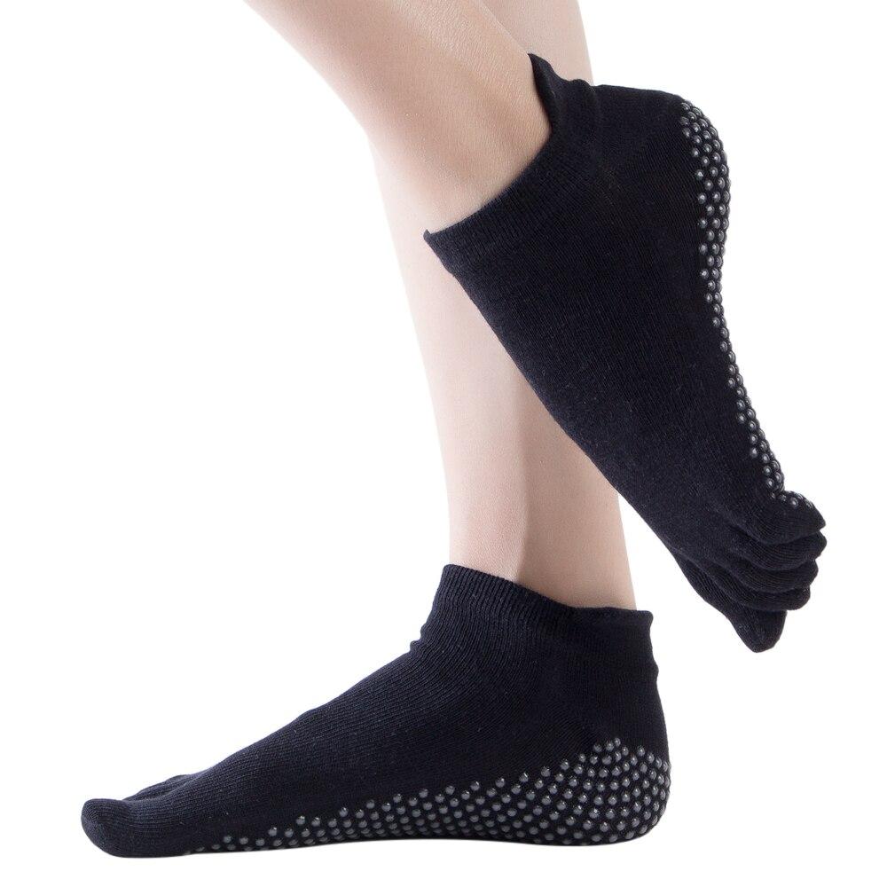 3 PAIRS SET of Full Toe Non Slip Yoga Barre Socks with Full Grip Surface