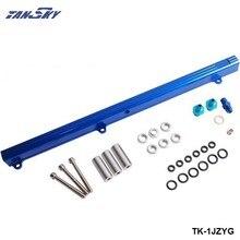 Para Toyota 1JZ Top inyector de alimentación riel de combustible Turbo Kit azul aluminio Billet HQ jdm TK-1JZYG