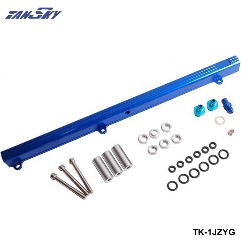 para toyota 1jz superior de alimentacao injector combustivel ferroviario turbo kit azul aluminio boleto hq jdm