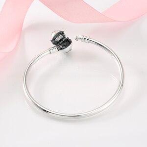 Image 4 - Heißer 925 Sterling Silber Charme herz zirkon Bead armband diy für mode schmuck frauen zubehör trendy 2018