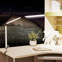 Swing Arm LED Desk Lamp with Clamp Dimmable Table Light for Study Reading Work Office JDH99
